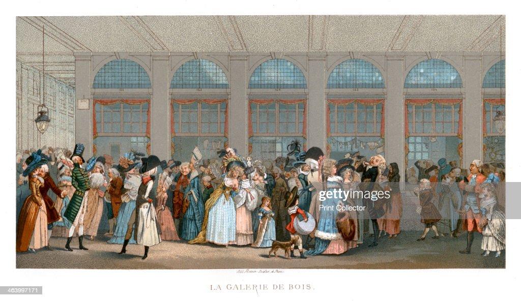 The Galerie de Bois, Paris, 1787, (1885).Artist: Urrabieta : News Photo