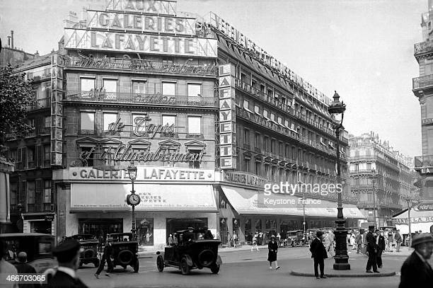 The Galeries Lafayette department store in 1928 in Paris France