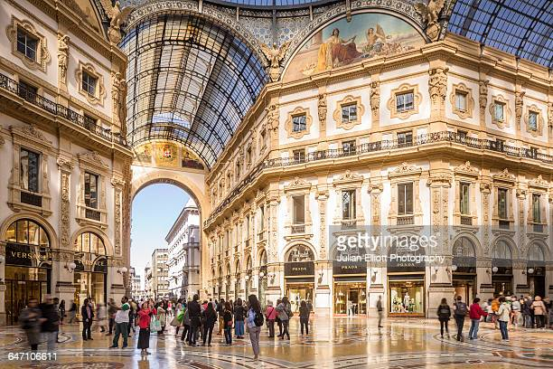 the galleria vittorio emanuele ii in milan, italy. - milan stock pictures, royalty-free photos & images