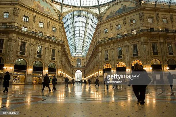 The Galleria Vittorio Emanuele shopping Center Milan Italy