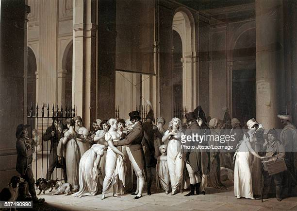 The Galleries of the Palais Royal Drawing by Louis Leopold Boilly 1809 Oil on canvas 050 x 062 m Carnavalet Museum Paris