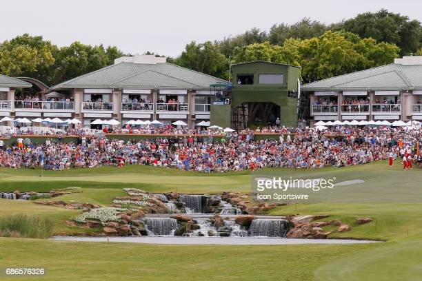 The gallery awaits the final group on during the final round of the ATT Byron Nelson on May 21 2017 at the TPC Four Seasons Resort in Irving TX