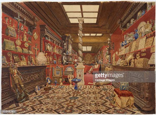 The Gallery of Alexander Basilewsky residence in Paris 1870 Found in the collection of State Hermitage St Petersburg