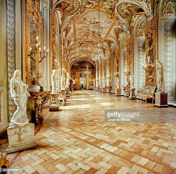 The Gallery of Mirrors is photographed for Vanity Fair Magazine on April 26 2011 IN THE Palazzo Doria Pamphilj in Rome Italy PUBLISHED IMAGE