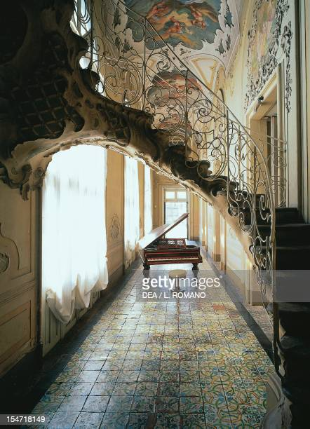 The Gallery's Rococostyle staircase Palazzo Biscari Catania Sicily Italy 18th century