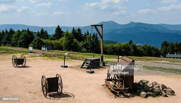 The gallows at the NatzweilerStruthof German concentration camp located in the Vosges Mountains close to the Alsatian village of Natzwiller