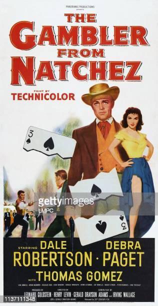 Dale Robertson Debra Paget on poster art 1954