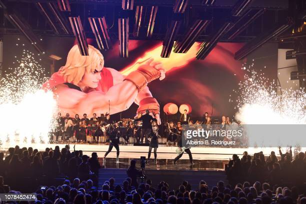The Game Awards Orchestra performs at The 2018 Game Awards at Microsoft Theater on December 06, 2018 in Los Angeles, California.