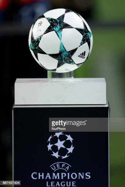 The game ball during the UEFA Champions League Group G match between FC Porto and AS Monaco FC at Dragao Stadium on December 6 2017 in Porto Portugal