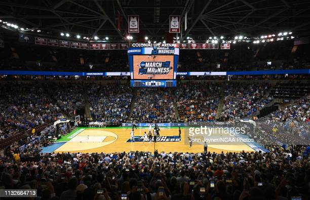 The game between the Duke Blue Devils and the UCF Knights tips off in the second round of the 2019 NCAA Photos via Getty Images Men's Basketball...