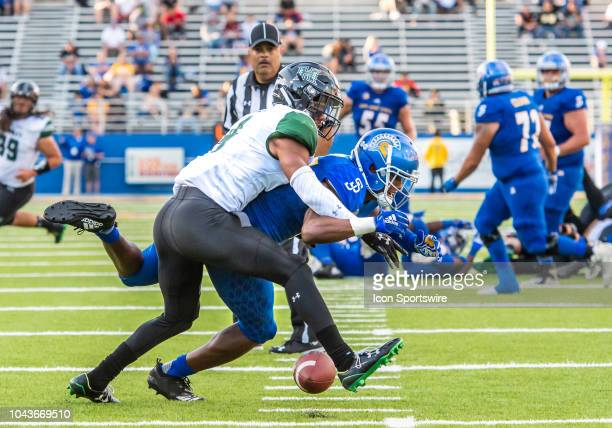 the game between the Hawaii Warriors and the San Jose State Spartans on Saturday September 29 2018 at CEFCU Stadium San Jose California