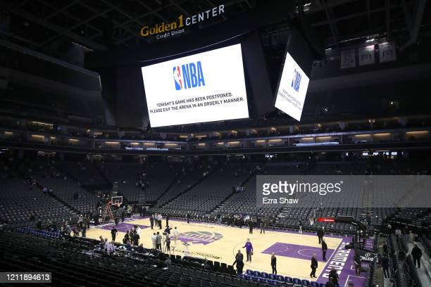 The game between the New Orleans Pelicans and the Sacramento Kings was postponed because of the corona virus at Golden 1 Center on March 11 2020 in...