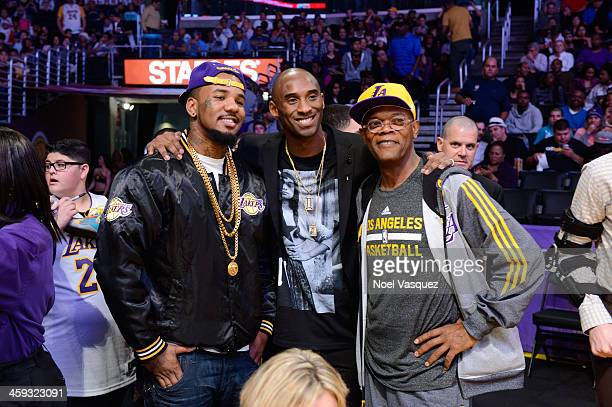The Game Kobe Bryant and Samuel L Jackson attend a basketball game between the Miami Heat and the Los Angeles Lakers at Staples Center on December 25...