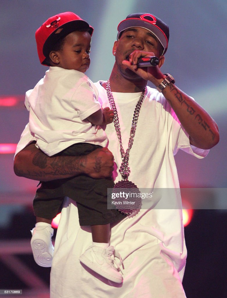 The Game performs onstage at the BET Awards 05 at the Kodak Theatre on June 28, 2005 in Hollywood, California.