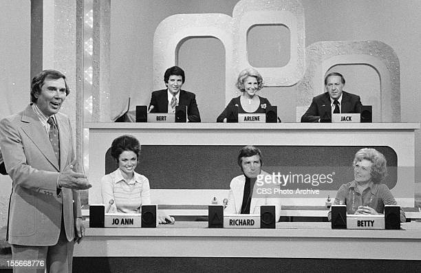 GAME the game show featuring host Gene Rayburn Show panelists Bert Convy Arlene Francis and Jack Klugman Jo Ann Pflug Richard Dawson and Betty White...