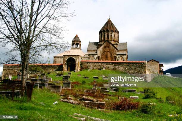 The Gandzasar monastery, built in the 16th century is still in use today, is seen May 2, 2004 in Nagorno-Karabakh, Azerbaijan. Nagorno-Karabakh is a...