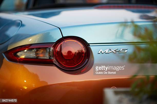 The Garage Italia Customs Mazda MX5 Levanto is revealed during the Mazda Beach Party In Milan on June 23 2016 in Milan Italy