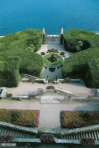 The garden from the villa, Villa Carlotta, Tremezzo, Lake Como, Lombardy. Italy, 17th century.