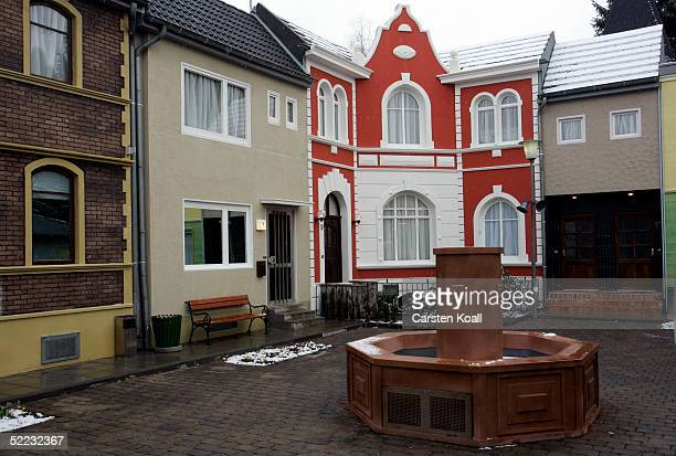The garden in front of the houses as seen during Big Brother Village Press Tour on February 23 2005 in Cologne Germany