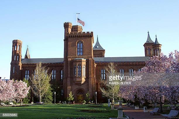 The garden is shown at the Smithsonian Castle in Washington, DC 04 April, 2005. AFP PHOTO/Karen BLEIER