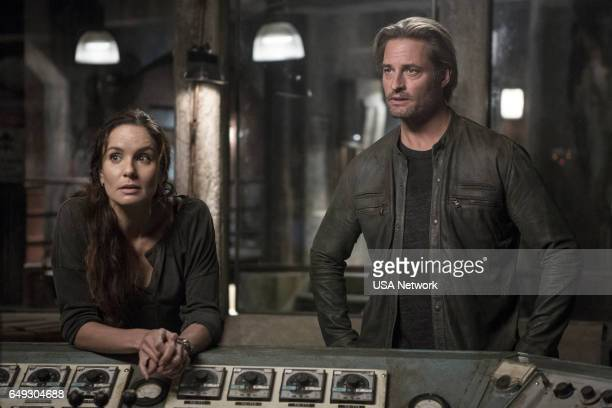 COLONY 'The Garden of Beasts' Episode 210 Pictured Sarah Wayne Callies as Katie Bowman Josh Holloway as Will Bowman