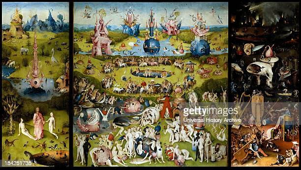 The Garden of Earthly Delights a triptych of paintings by Hieronymus Bosch Dating from between 1490 and 1510 when Bosch was between 40 and 60 years...