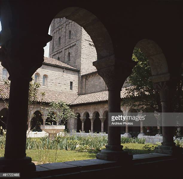 The garden of The Cloisters in New York City USA circa 1960