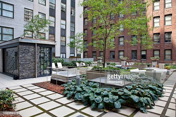 The Garden Terrace At 99 John Deco Lofts Condo Building Is Pictured In New York