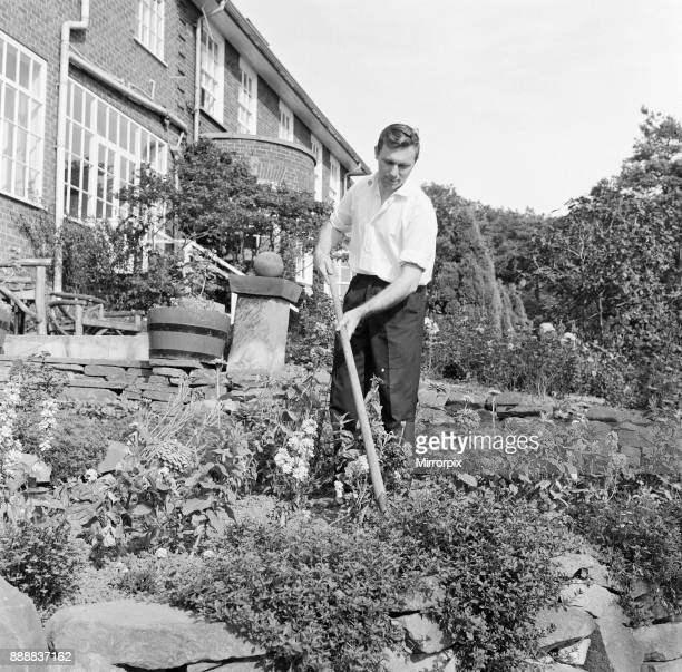 The gardener at the Tall Trees Hotel and Nightclub in Yarm 1971