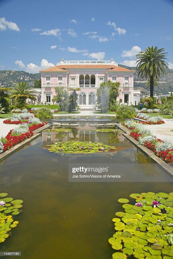 The Gardens and Villa Ephrussi de Rothschild, Saint-Jean-Cap-Ferrat, France : News Photo