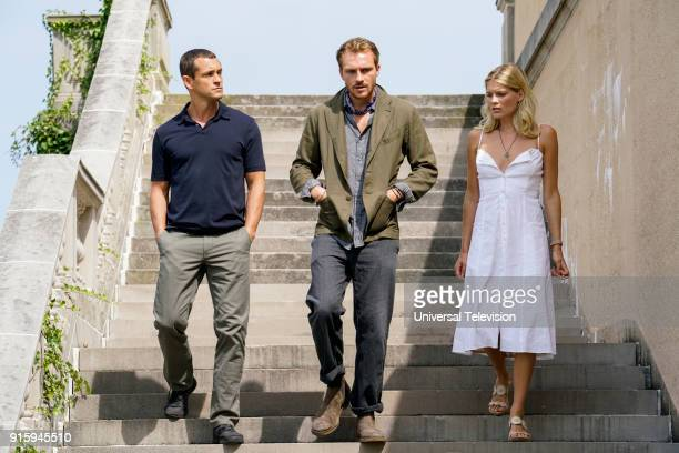 THE PATH The Gardens at Giverny Episode 307 Pictured Hugh Dancy as Cal Roberts Roby Schinasi as Jean Paul Emma Greenwell as Mary Cox