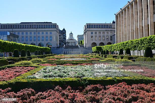 The gardens in Mont des Arts in Brussels