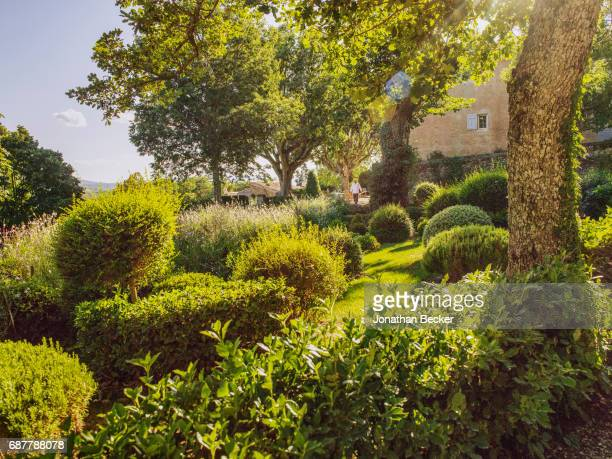 The gardens of Chateau dAutet are photographed for Vanity Fair Magazine on July 13, 2016 in Provence, France. PUBLISHED IMAGE.