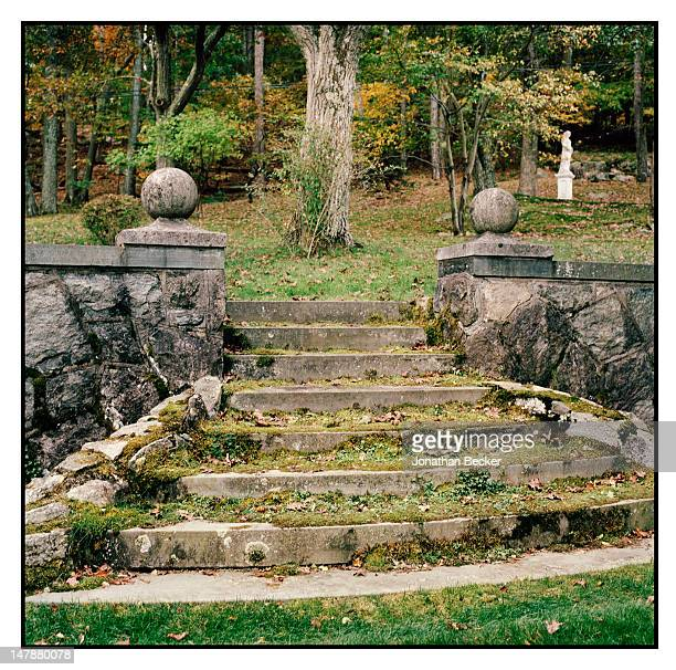 The gardens of the Ballroom are photographed for Town & Country Magazine on September 8, 2011 in Tuxedo Park, New York. PUBLISHED IMAGE.