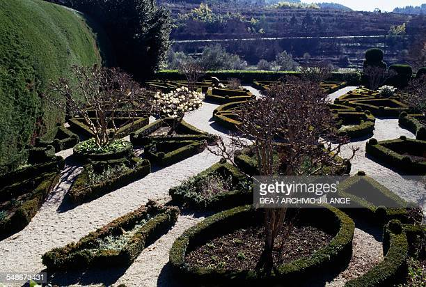 The gardens of the Solar de Mateus or Mateus Palace residence of the Counts of Vila Real Vila Real Norte Portugal 18th century