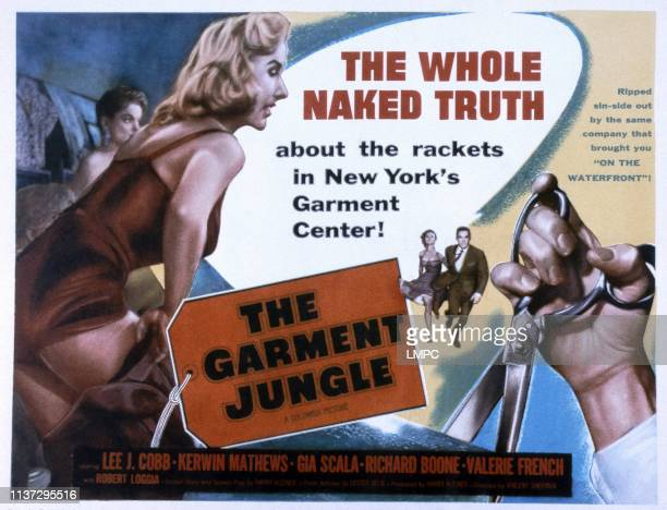 The Garment Jungle poster center from left Gia Scala Kerwin Mathews 1957