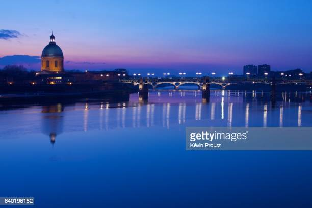 The Garonne river, Toulouse. France