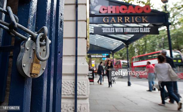 The Garrick Theatre in London's West End hosts the musical show 'Chicago' for the last time on September 1 2012 The musical has run for 15 years in...