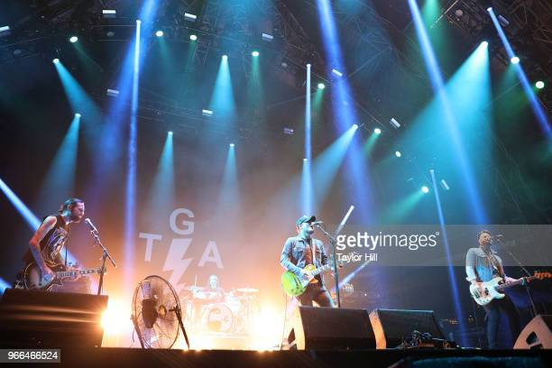 The Gaslight Anthem perform onstage during Day 2 of 2018 Governors Ball Music Festival at Randall's Island on June 2 2018 in New York City