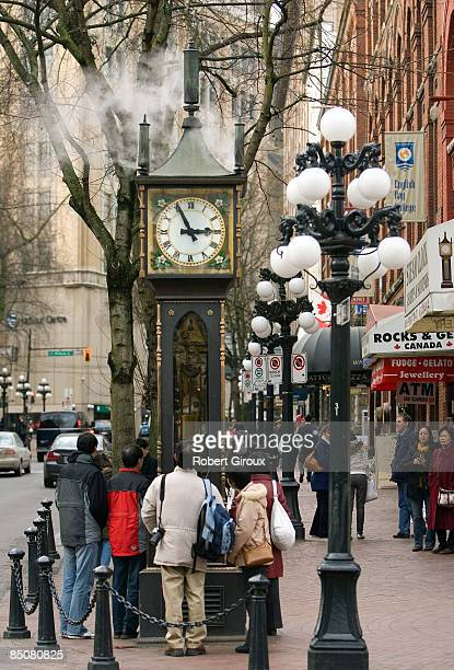 The Gastown steam clock is pictured February 17 2009 in Vancouver British Columbia Canada Vancouver is the host city for the 2010 Winter Olympic...