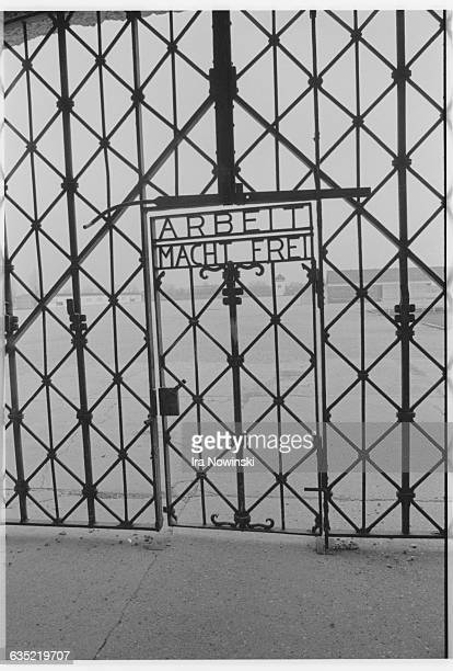 The gate at Dachau concentration camp bears the infamous motto Arbeit Macht Frei All prisoners were marched through this the only entrance to the camp