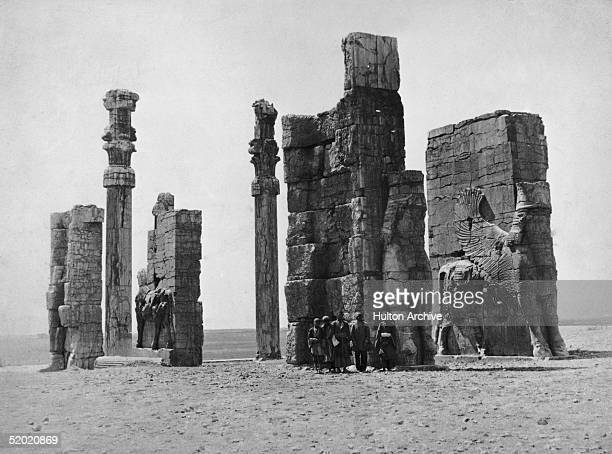 The Gate of All Nations at Persepolis, the ancient capital of Persia, built in the 5th century BC by Xerxes, circa 1910.
