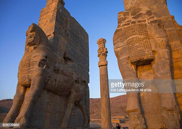 The gate of all nations in Persepolis, Fars Province, Marvdasht, Iran on October 15, 2016 in Marvdasht, Iran.