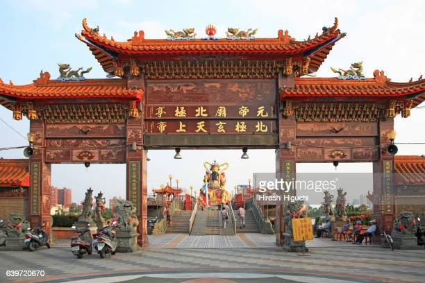 The Gate of Pei Chi Pavilion to the statue of Syuan Tian Emperor, Lotus Pond, Kaohsiung, Taiwan