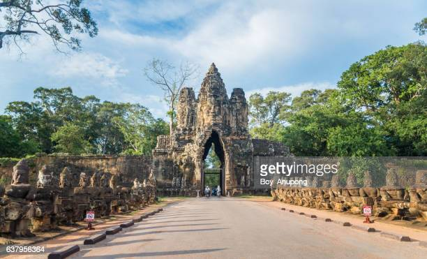 The gate way to Angkor Thom the last and most enduring capital city of the Khmer empire.