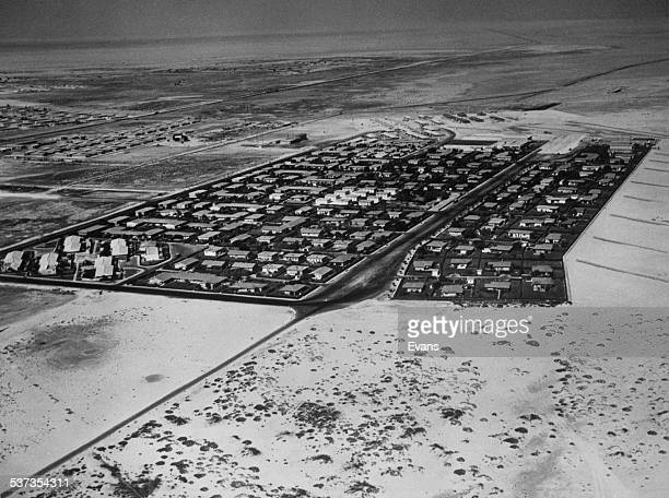 The gated compound for employees of the oil company Aramco in Ras Tanura on the Persian Gulf in Saudi Arabia circa 1955