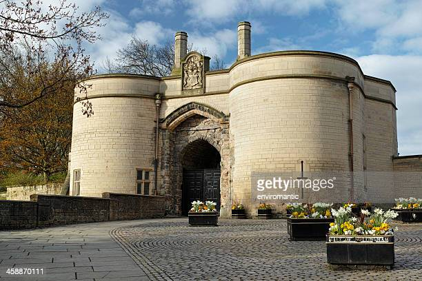 the gatehouse of nottingham castle. - nottingham stock photos and pictures