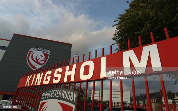The gates at Kingsholm Stadium prior to the Gallagher Premiership Rugby match between Gloucester Rugby and Bristol Bears at Kingsholm Stadium on...