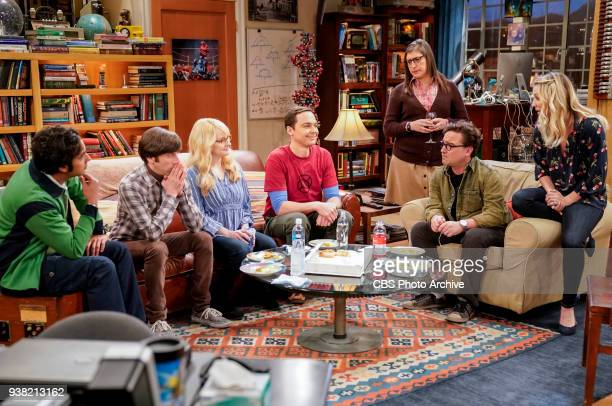'The Gates Excitation' Pictured Rajesh Koothrappali Howard Wolowitz Bernadette Sheldon Cooper Amy Farrah Fowler Leonard Hofstadter and Penny Penny...