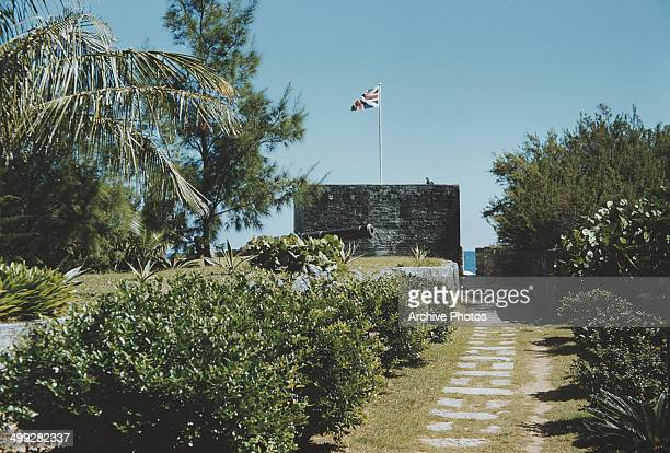 The Gates Fort a 17th century watchtower at the entrance to St George's Harbour St George's Island Bermuda circa 1960